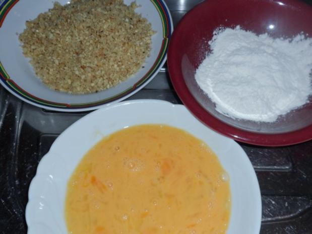 Knusper-Feta in Nusspanade mit süß-saurer Zwiebel-Orangen-Beilage - Rezept - Bild Nr. 5