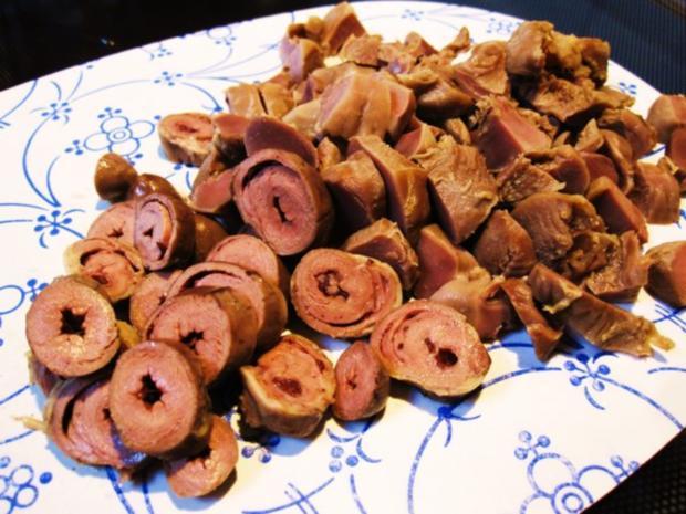 Linsentopf mit Lammfleisch und Hühnerherzchen - Rezept - Bild Nr. 3