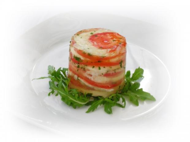 Tomaten-Mozzarella- Terrine mit Prosciutto Crostini - Rezept - Bild Nr. 15