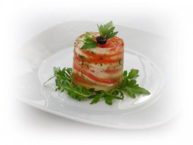 Tomaten-Mozzarella- Terrine mit Prosciutto Crostini - Rezept - Bild Nr. 16