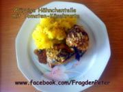 Würzige Hähnchenteile mit Tomaten-Käsekruste und Kartoffelschmarrn - Rezept