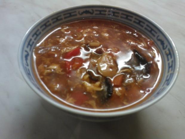 Pekingsuppe (Scharf-Sauer-Suppe) - Rezept - Bild Nr. 10