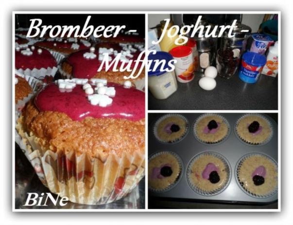 BiNe` S BROMBEER - JOGHURT -  MUFFINS - Rezept