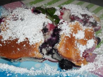 Rezept: Süßspeisen/Dessert: Fruchtiger Beeren-Quark-Auflauf