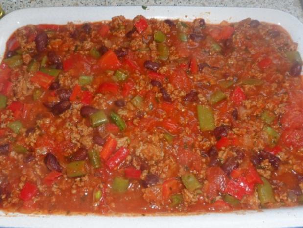 Aufläufe/Gratins: Pikanter Chili-Con-Carne-Auflauf mit Cheddar & Tortilla-Kruste - Rezept - Bild Nr. 13