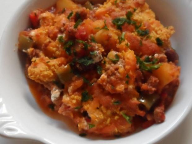 Aufläufe/Gratins: Pikanter Chili-Con-Carne-Auflauf mit Cheddar & Tortilla-Kruste - Rezept - Bild Nr. 17