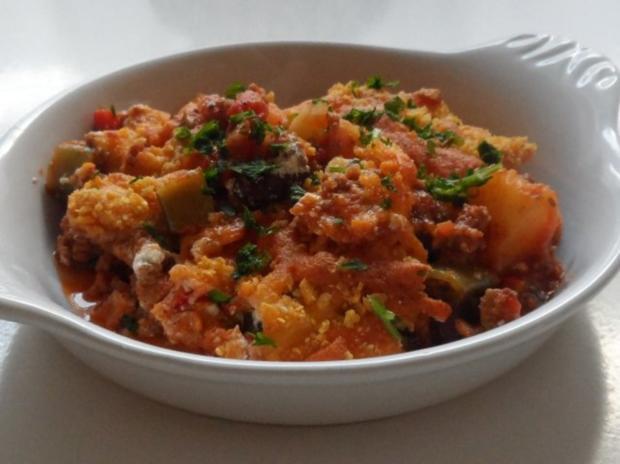 Aufläufe/Gratins: Pikanter Chili-Con-Carne-Auflauf mit Cheddar & Tortilla-Kruste - Rezept - Bild Nr. 18