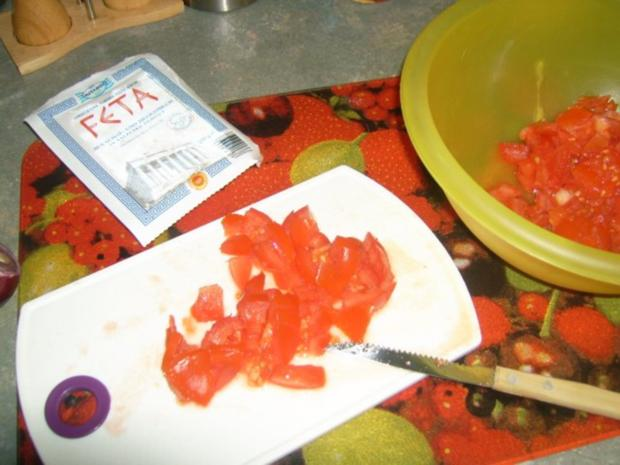 Tomatensalat mit Feta, auf Toast gebacken ala Kukuluru - Rezept - Bild Nr. 2