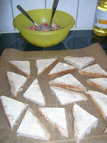 Tomatensalat mit Feta, auf Toast gebacken ala Kukuluru - Rezept - Bild Nr. 7