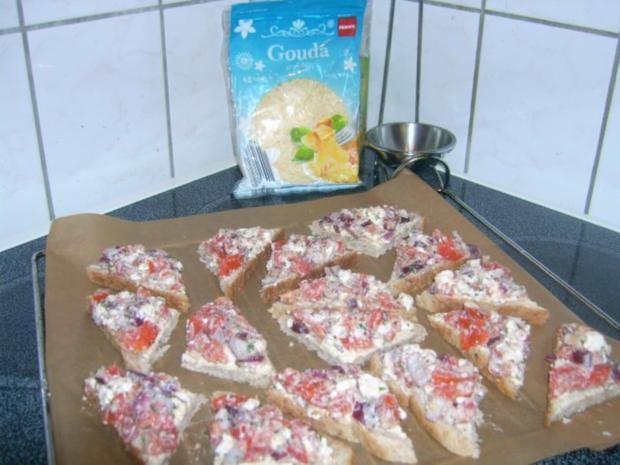 Tomatensalat mit Feta, auf Toast gebacken ala Kukuluru - Rezept - Bild Nr. 9
