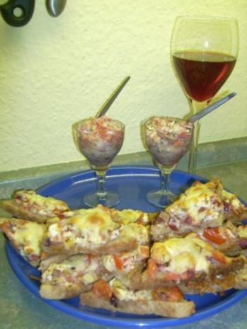 Tomatensalat mit Feta, auf Toast gebacken ala Kukuluru - Rezept