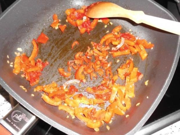 Chakalaka-Soße mit Cabanossi-Talern auf Pasta>> - Rezept - Bild Nr. 5