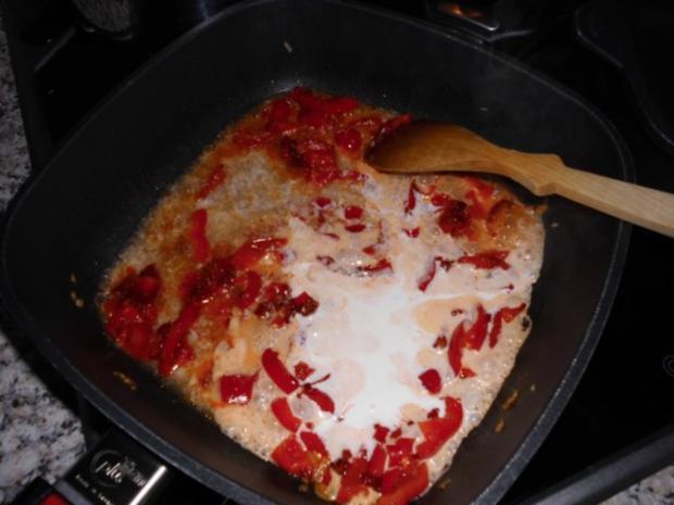 Chakalaka-Soße mit Cabanossi-Talern auf Pasta>> - Rezept - Bild Nr. 6