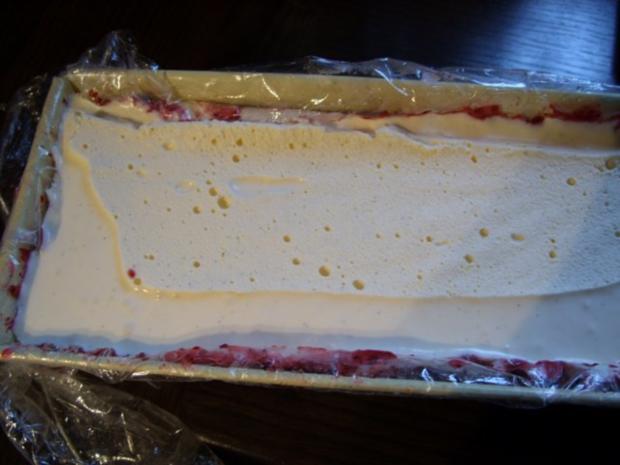Dessert. Vanilleparfait in Heidelbeersorbet - Rezept - Bild Nr. 4