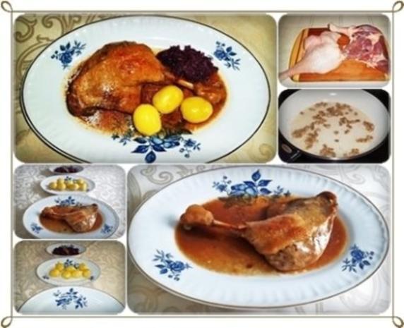 ☆…alle Jahre wieder…☆…  Gänsekeulen, Rotkohl und Kartoffeln - Rezept - Bild Nr. 2