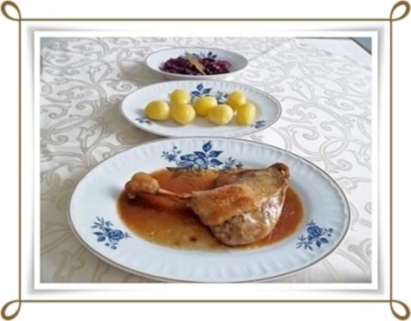 ☆…alle Jahre wieder…☆…  Gänsekeulen, Rotkohl und Kartoffeln - Rezept - Bild Nr. 13