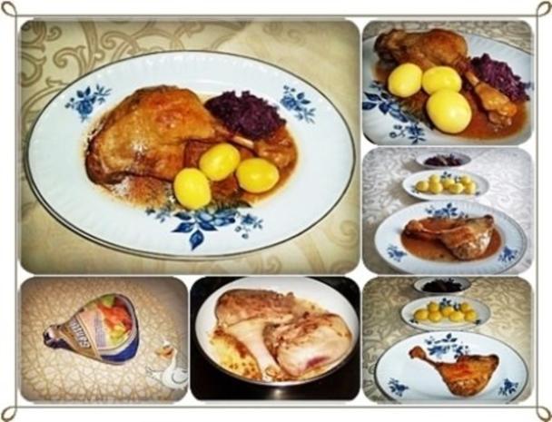 ☆…alle Jahre wieder…☆…  Gänsekeulen, Rotkohl und Kartoffeln - Rezept - Bild Nr. 15