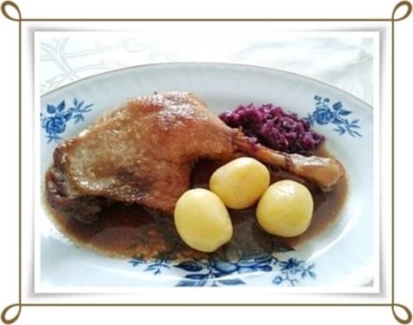 ☆…alle Jahre wieder…☆…  Gänsekeulen, Rotkohl und Kartoffeln - Rezept - Bild Nr. 16