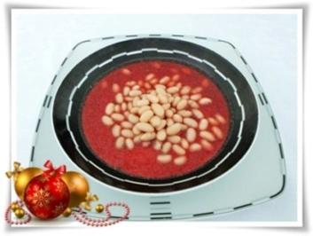 ☆…alle Jahre wieder…☆… Rote Bete Suppe mit weißen Bohnen - Rezept