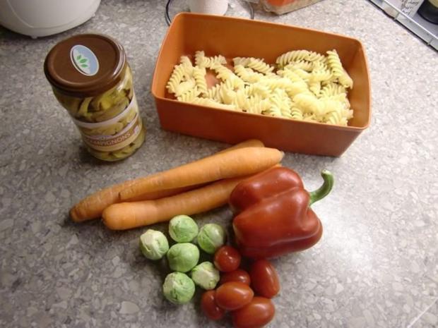 Gemüsepfanne mit Nudeln - Rezept - Bild Nr. 2