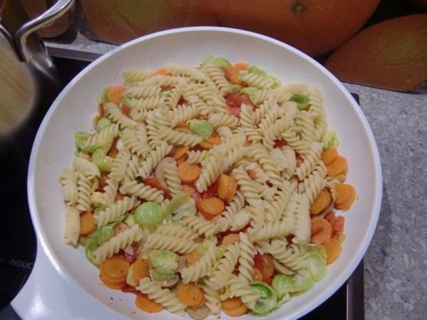 Gemüsepfanne mit Nudeln - Rezept - Bild Nr. 12