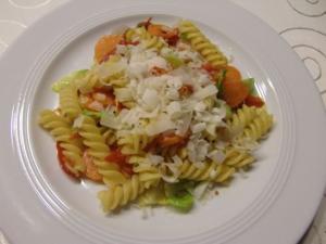 Gemüsepfanne mit Nudeln - Rezept