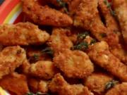 Mediterrane Hähnchensticks in Grissini-Parmesan-Panade - Rezept