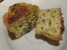 Käse-Lauch-Quiches - Rezept