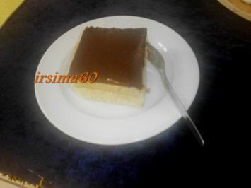 Schokoladen Kuchen mit Pudding und Butterkeksen - Rezept