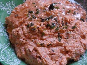 Pasten/Dips: Mediterrane Käse-Tomaten-Creme - Rezept