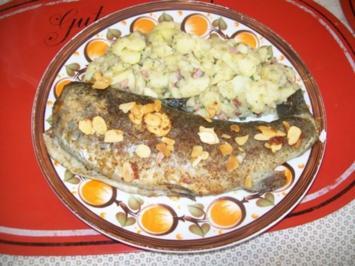 Fisch: Spessartforelle mit Mandelblättchen - Rezept
