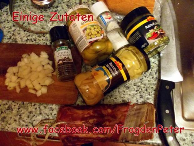 Feurige Sardellen-Pfefferoni  Spaghetti mit Paprika-Olivensoße - Rezept - Bild Nr. 4