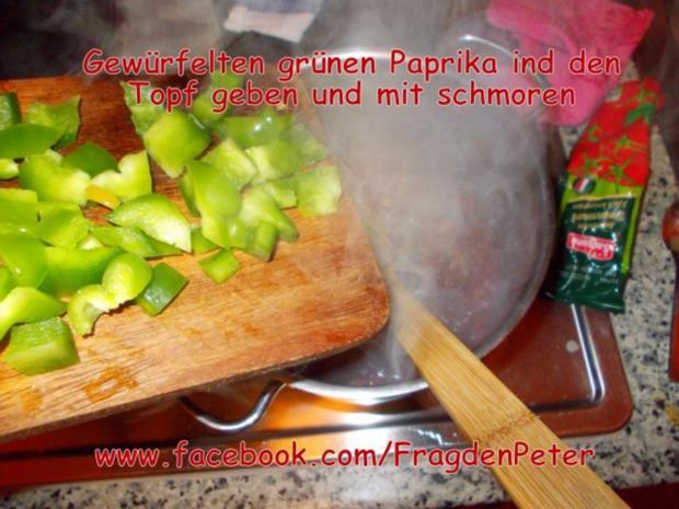 Feurige Sardellen-Pfefferoni  Spaghetti mit Paprika-Olivensoße - Rezept - Bild Nr. 9