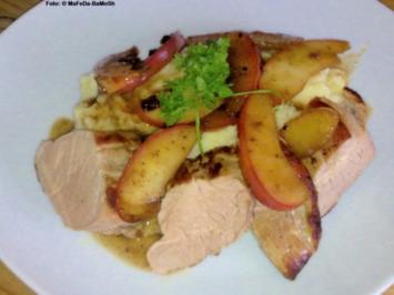 Schweinefilet mit Ingwer-Sherry-Äpfeln - Rezept