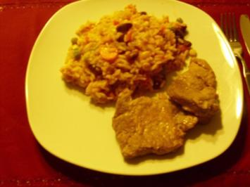 Rezept: Reis- Gemüse Pfanne