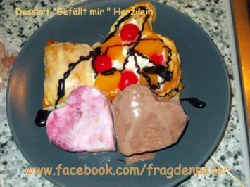 Rezept: Blätterteig Dessert mit Eis und Früchten