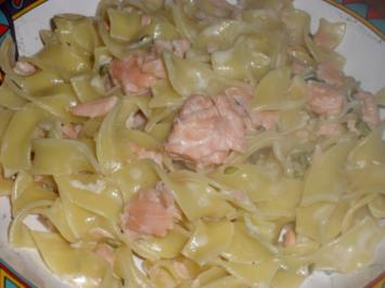 Pappardelle mit Whisky Lachs Sahnesoße - Rezept