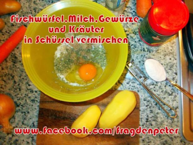 Seelachs-Kartoffelpuffer mit Knoblauch Dip - Rezept - Bild Nr. 3