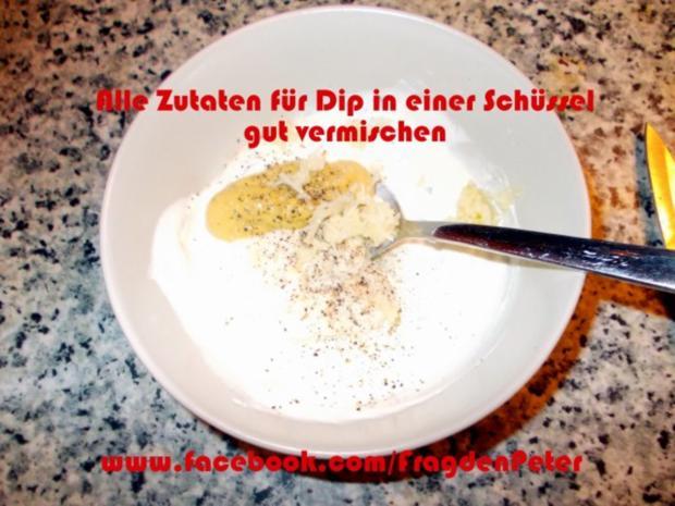 Seelachs-Kartoffelpuffer mit Knoblauch Dip - Rezept - Bild Nr. 7