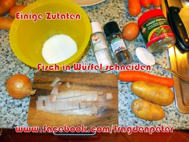 Seelachs-Kartoffelpuffer mit Knoblauch Dip - Rezept - Bild Nr. 2