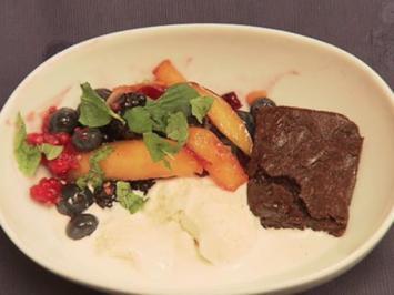 Brownies mit Eis (Kim Sanders) - Rezept