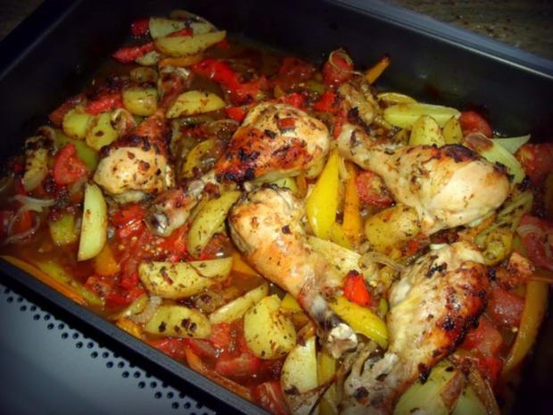 Hähnchenkeulen aus dem Ofen - Rezept