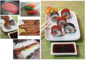 Rinderfilet-Jalapeño-Sushi - Rezept