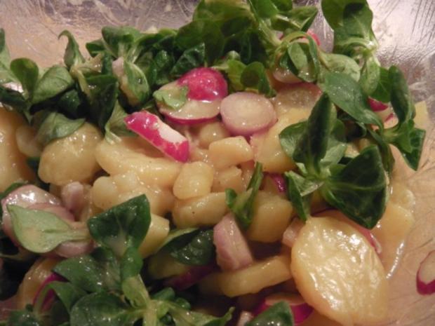 Stubengeheimnis vom Huhn mit Wiener Erdäpfel-Vogerlsalat - Rezept - Bild Nr. 7