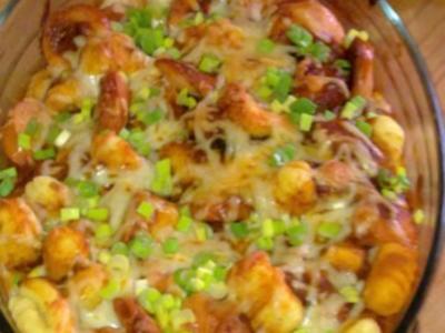 Currywurst-Gnocchi-Auflauf - Rezept