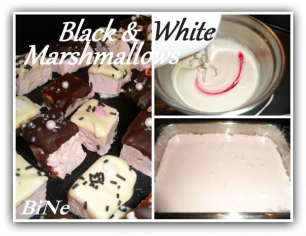 BiNe` S BLACK & WHITE MARSHMALLOWS - Rezept