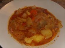 Weißkohleintopf mit Suppenfleisch - Rezept
