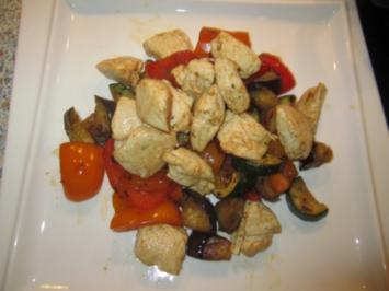 Arabische Gemüsepfanne mit Hähnchenbrust - Rezept