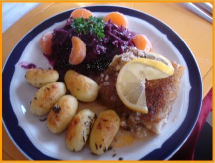 Schlemmer-Filet mit Gourmet-Rotkohl und Rosmarin-Kartoffeln - Rezept