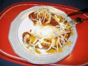 Kleine Gerichte: Opa`s Currywurst herzhaft - Rezept